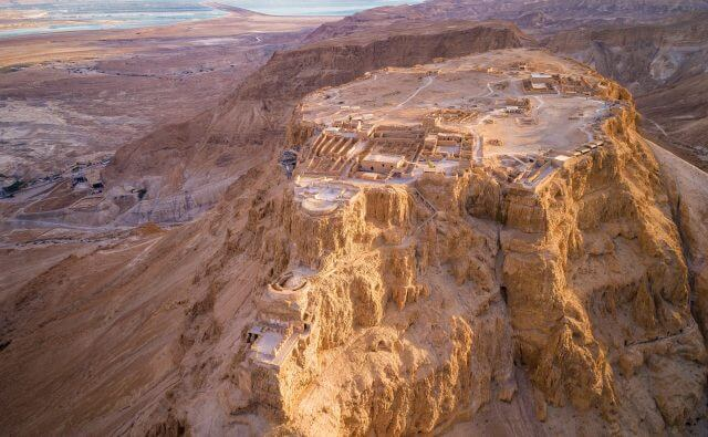 Masada National Park in the Dead Sea region of Israel.