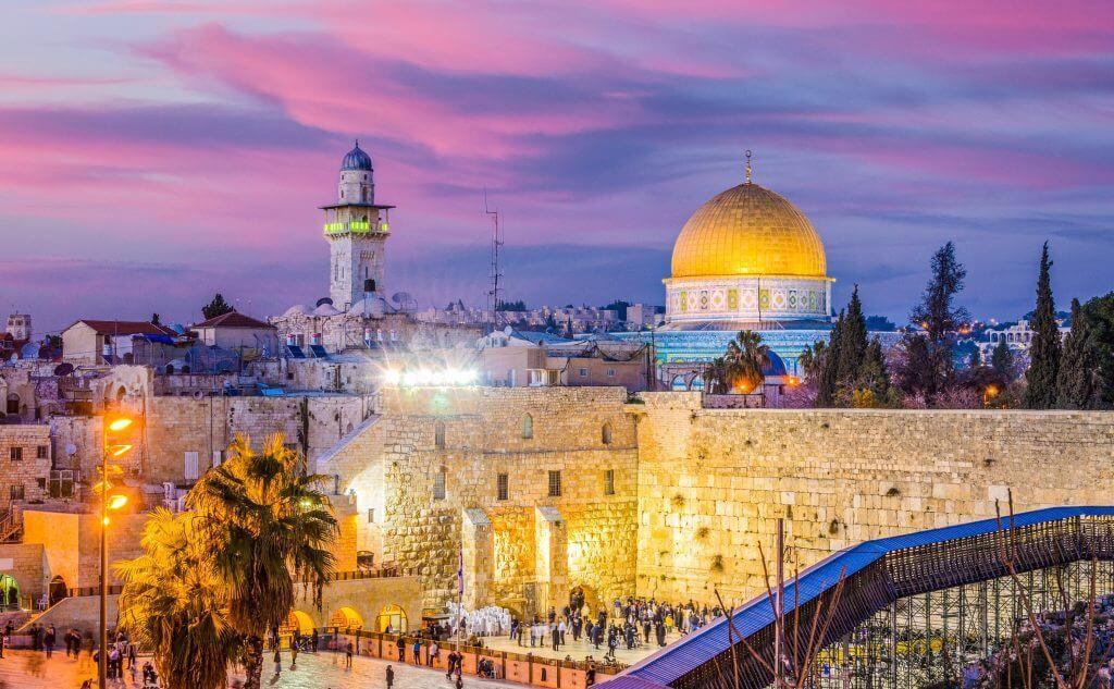 Jerusalem pink sky