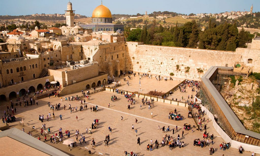 Jerusalem Kotel and Dome of the Rock