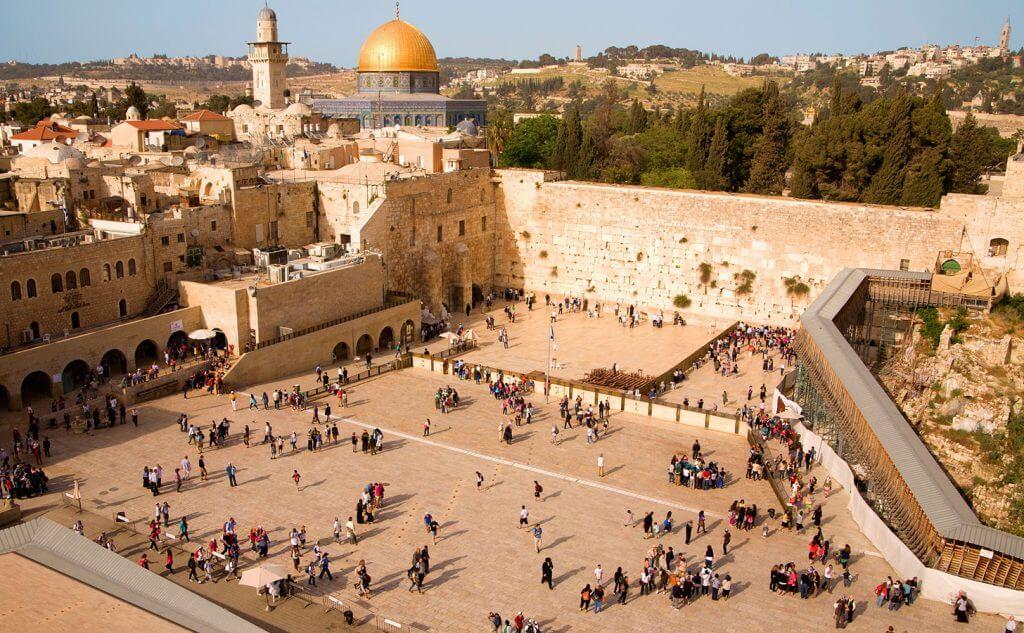 Jerusalem Kotel and Dome of the Rock