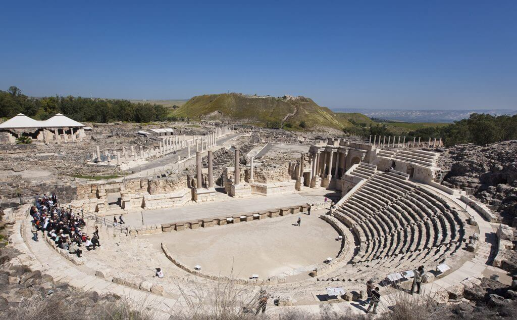 ROMAN THEATER IN BEIT SHEAN NATIONAL PARK