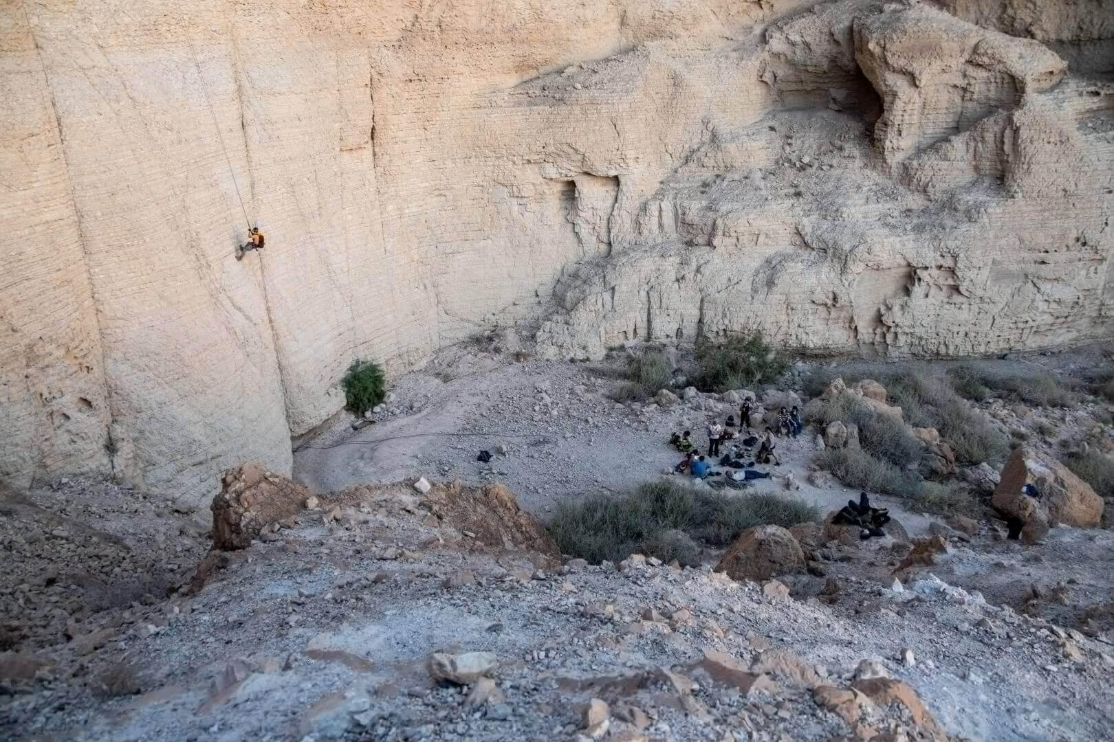 Dead Sea rappeling