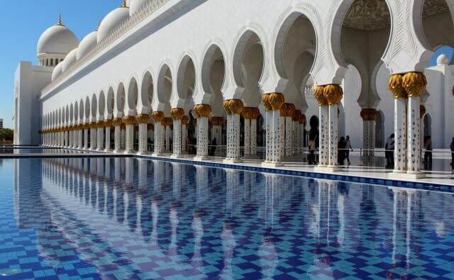Free image/jpeg Resolution: 3163x2108, File size: 1.66Mb, Luxury Sheikh Zayed Mosque Reflecting on pool, uae, abu dhabi
